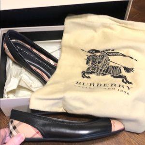 Burberry Napa leather Ballerinas
